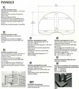 panneaux-de-basket dimenssion