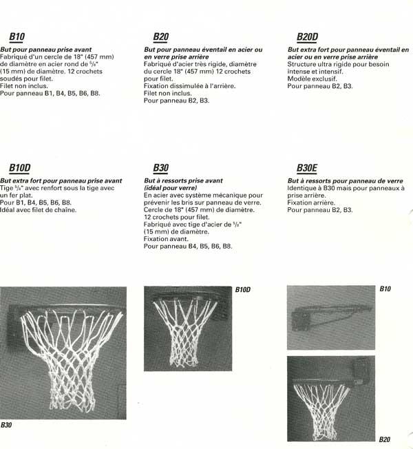 Panniers de basket ball