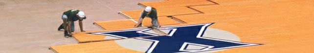 plancher de basket-ball demontable