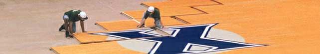 plancher de basket-ball demontable